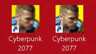 Cyberpunk desktop icon mod