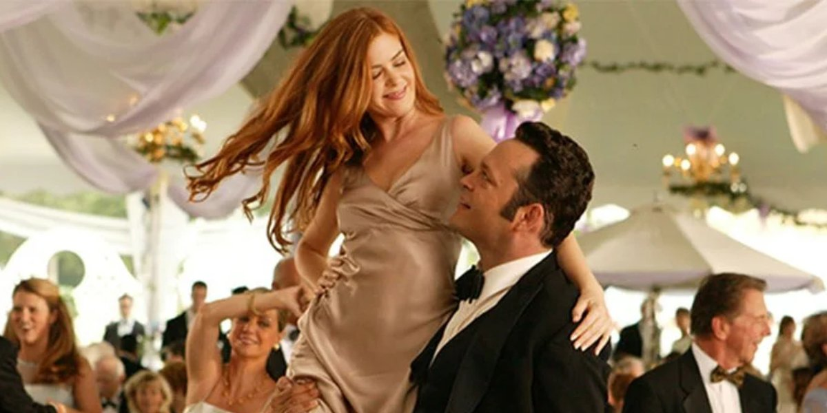 Isla Fisher and Vince Vaughn in Wedding Crashers
