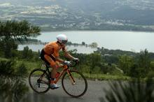 Ion Izagirre (Euskaltel-Euskadi) was a surprise fastest time until Tejay van Garderen came through.