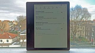 Amazon Kindle Oasis connecting to internet