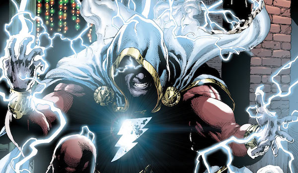 Shazam in cape and cowl in comics