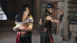 Liu Kang (Ludi Lin) and Kung Lao (Max Huang) in Mortal Kombat.