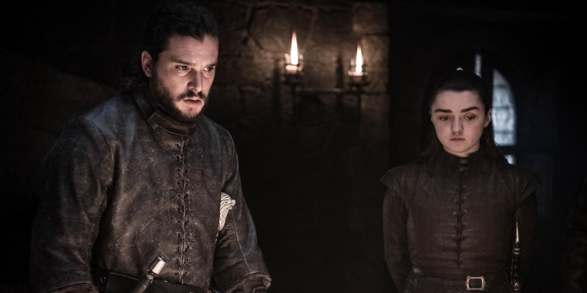 Game of Thrones Kit Harington Jon Snow Maisie Williams Arya Stark HBO