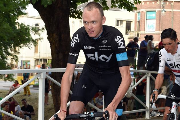 Thumbnail: Chris Froome during the Team Presentation of the 2015 Tour de France (Watson).