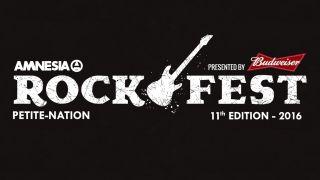 Poster advertising Amnesia Rockfest 2016