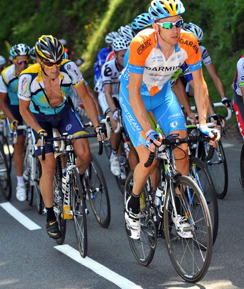 Bradley Wiggins, Lance Armstrong, Alberto Contador, Tour de France 2009, stage 9