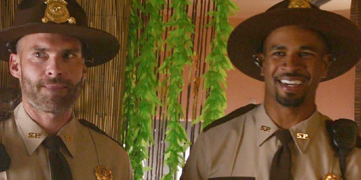 Damon Wayans Jr. in Super Troopers 2.