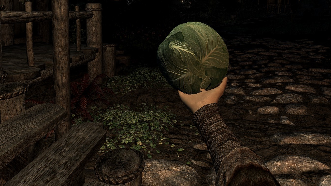 Here's a mod to put Gravity Gloves in Skyrim VR