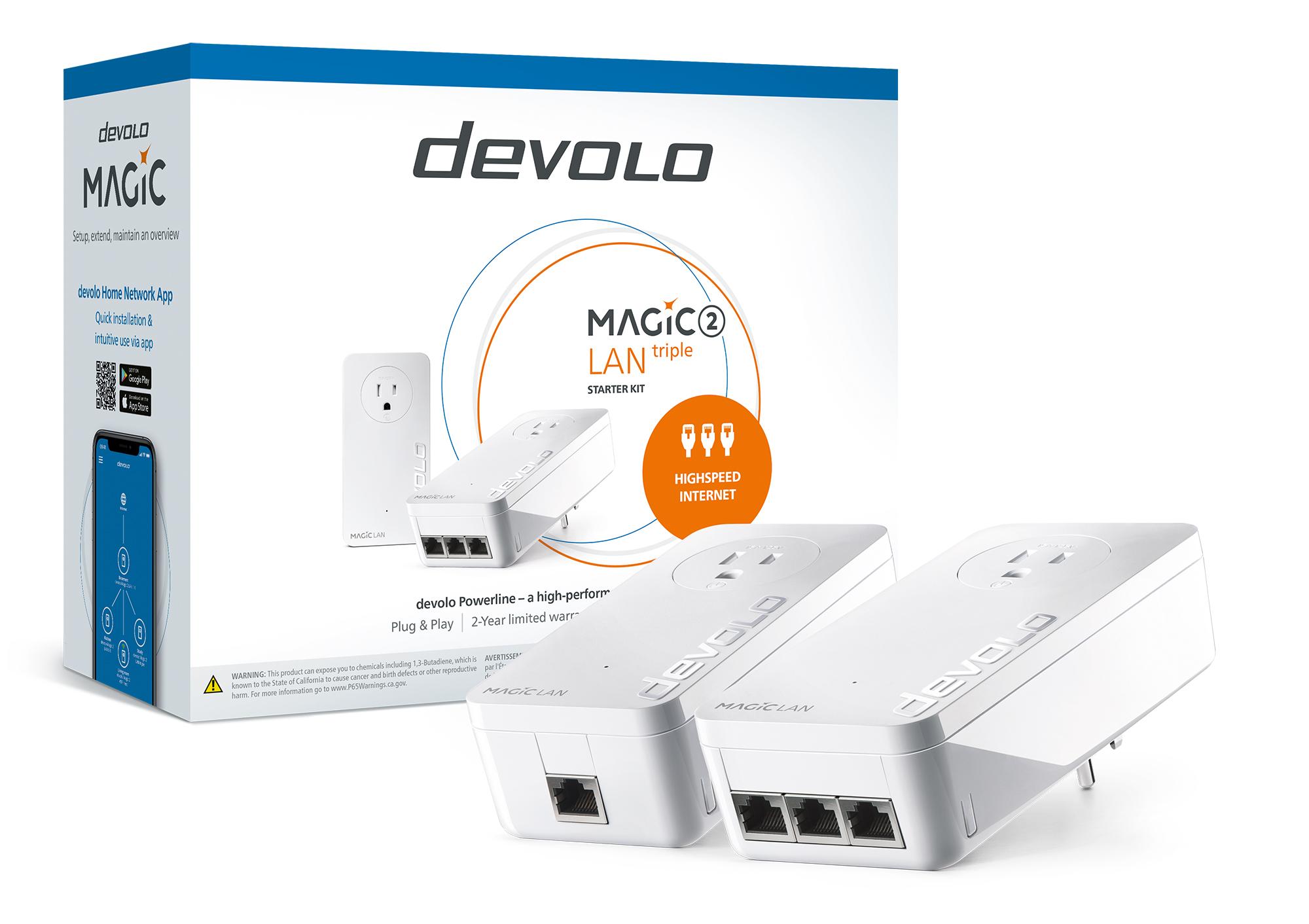 A photo of the devolo Magic 2 LAN triple Starter Kit