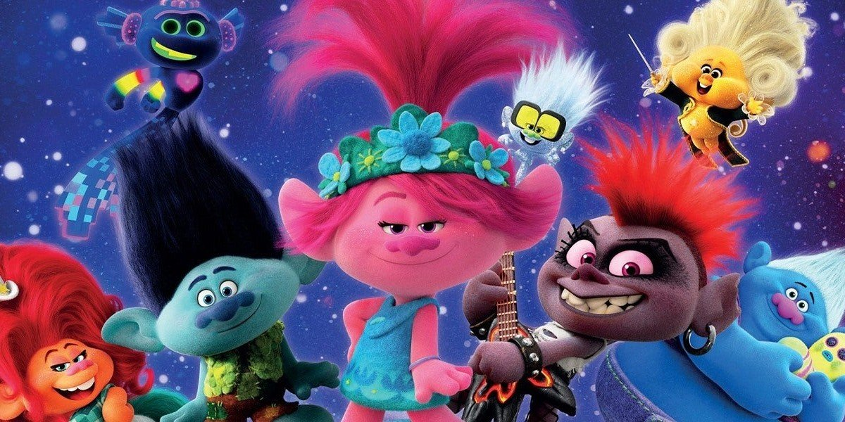 The characters of Trolls World Tour