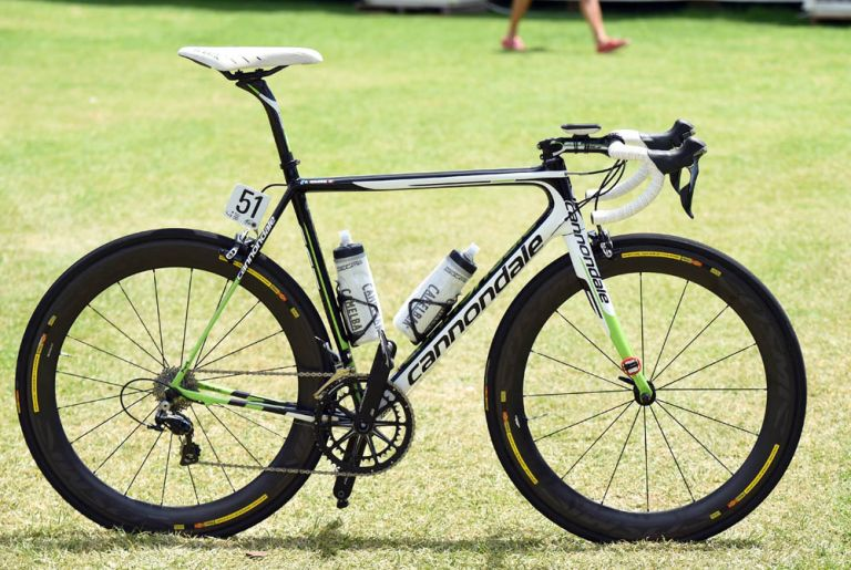 Ryder Hesjedal's Cannondale-Garmin team bike