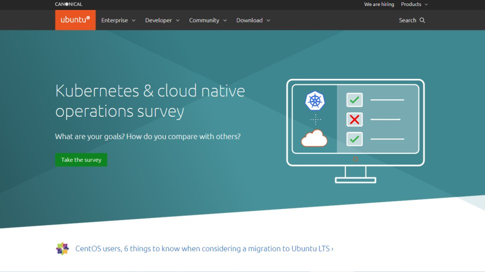 Website screenshot for Ubuntu