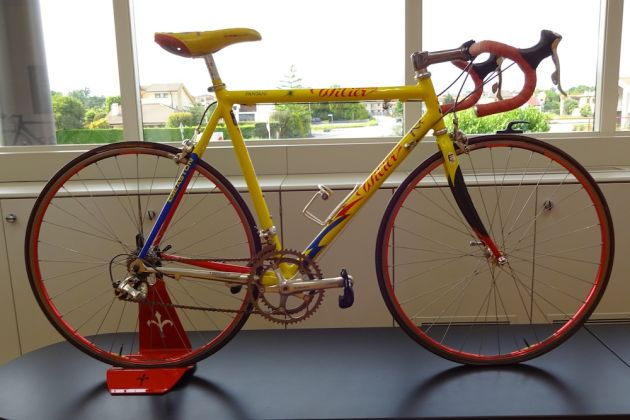 Marco Pantani made the fastest ever ascent of Alpe d'Huez on this Wilier bike