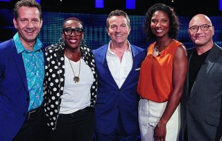 MasterChef co-presenter Gregg Wallace, former athlete Denise Lewis, sports presenter Mark Pougatch and comedian Gina Yashere team up tonight in a bid to stay a step (or several) ahead of this week's fiendishly clever Chaser.