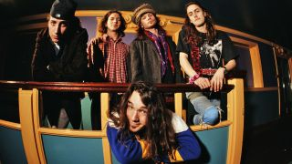 Pearl Jam with Abbruzzese (front) in the 90s