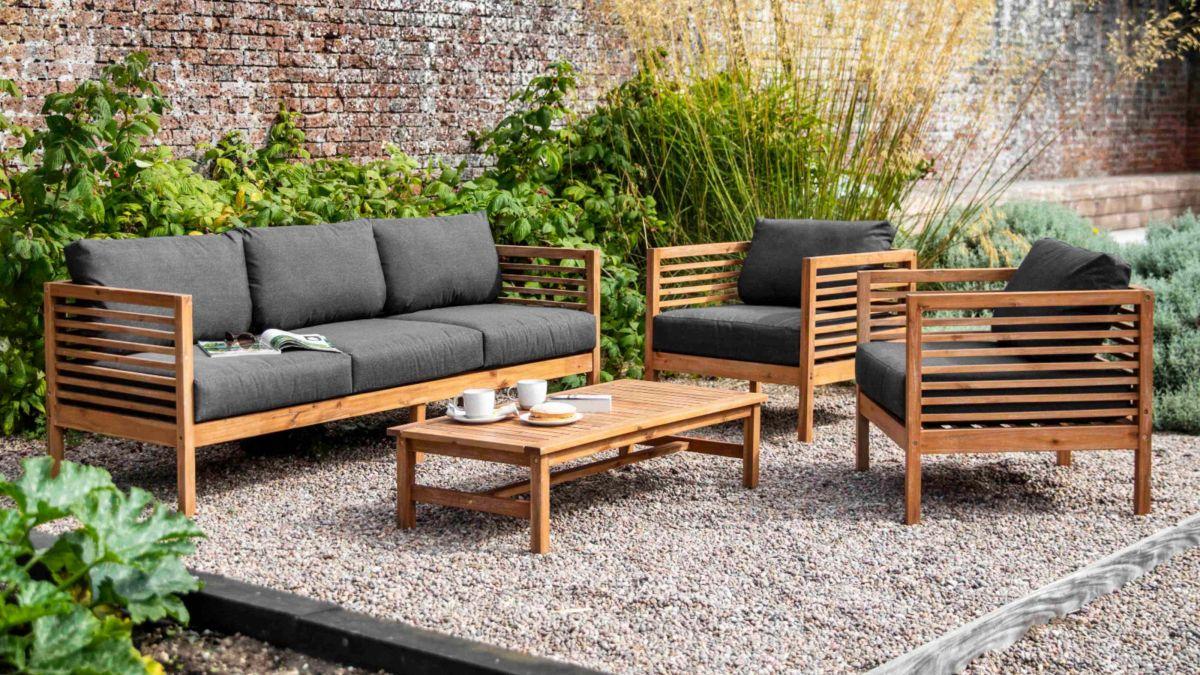 Hardwood Wooden Garden Furniture Love Seat Bench /& Table Garden,Patio,Balcony