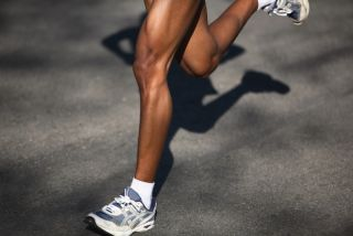 A runner's lower leg