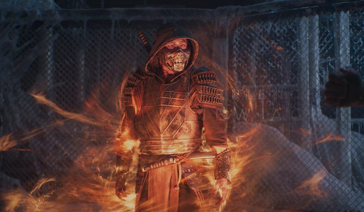 Scorpion appears in the frozen gym in Mortal Kombat.