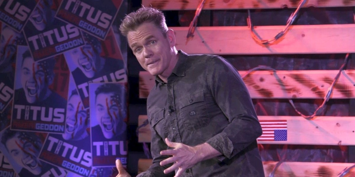 Christopher Titus in her special Amerigeddon