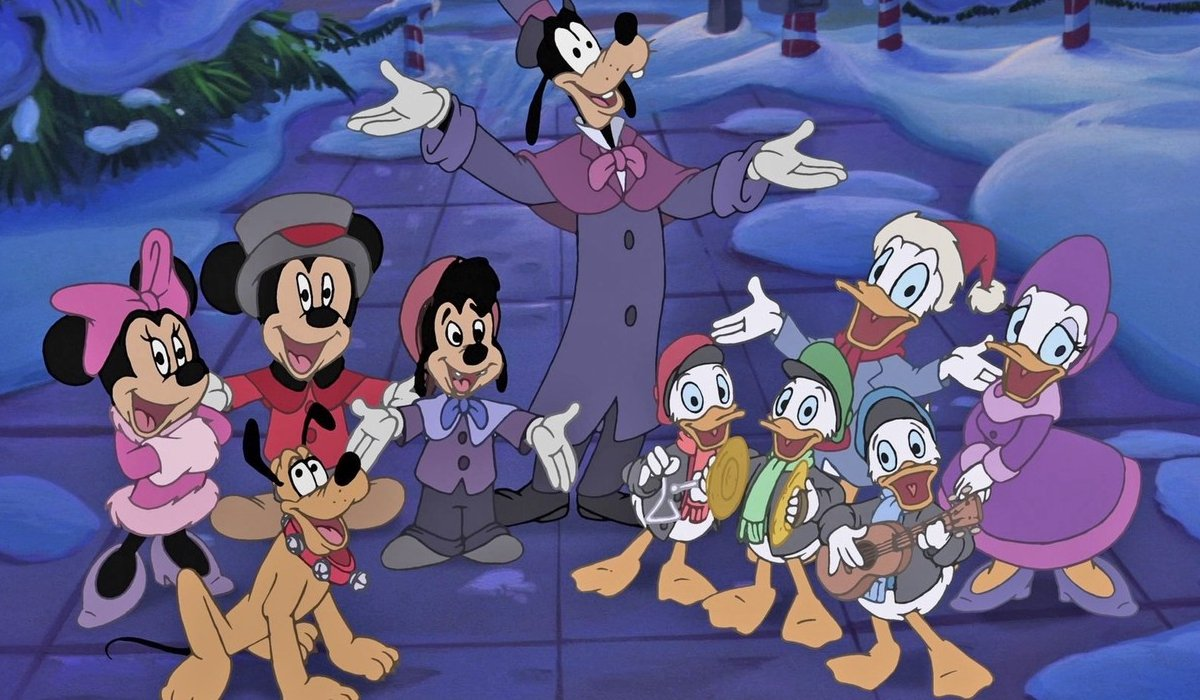 Mickey's Once Upon A Christmas Mickey and friends go a'caroling