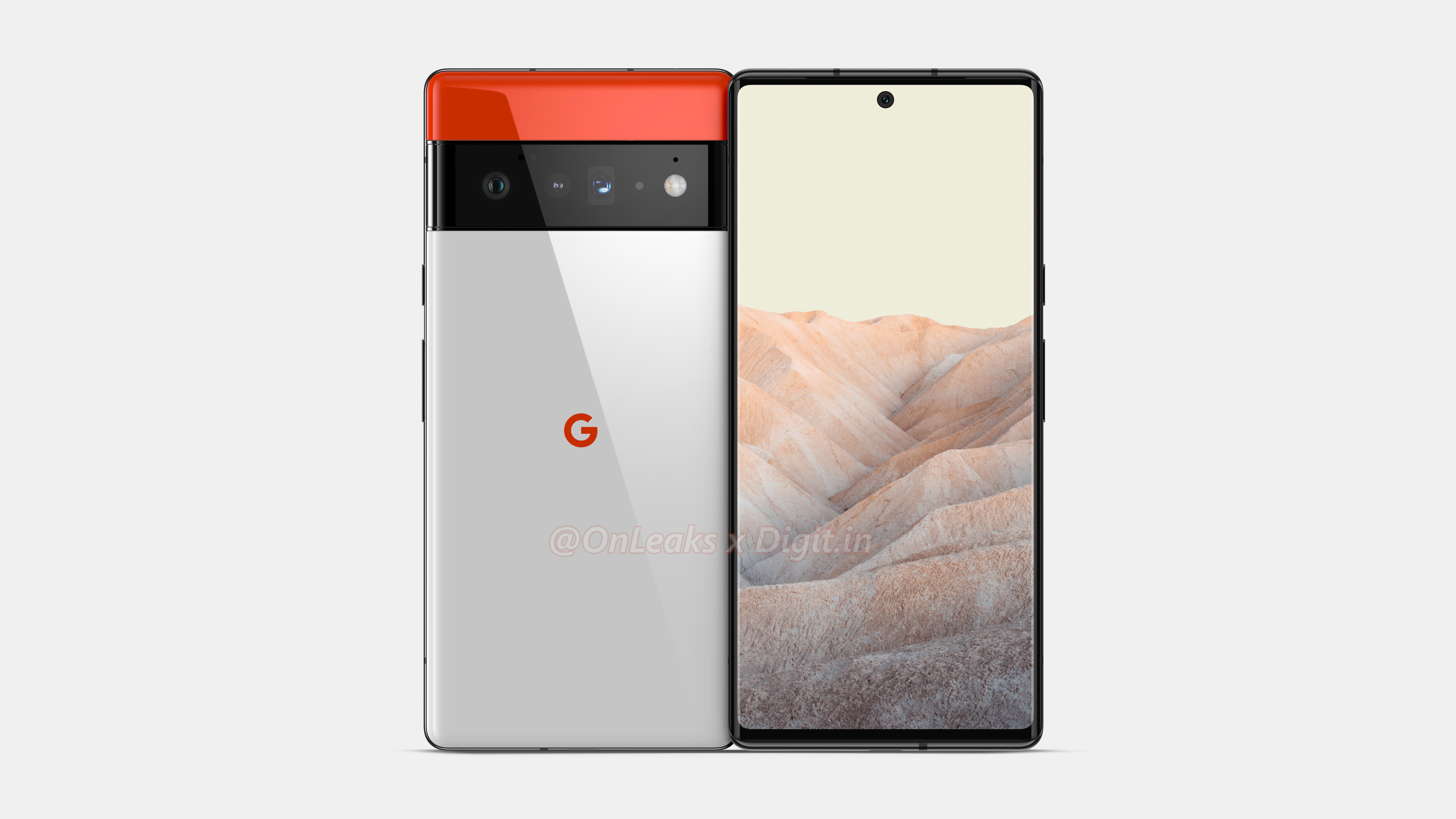 Front and back looks at the Google Pixel 6 Pro