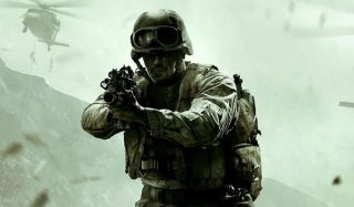 A soldier charges forward in Modern Warfare Remastered