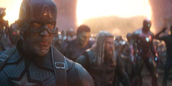 Captain America looks serious Avengers Endgame