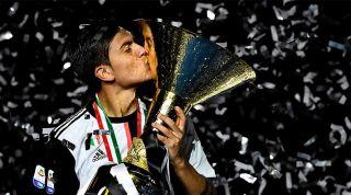 Paulo Dybala Serie A trophy