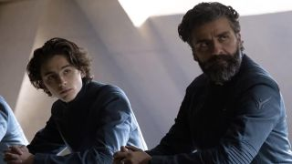 Timothée Chalamet and Oscar Isaac in Dune