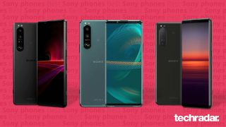 A selection of the best Sony phones including Sony Xperia 1 III, Sony Xperia 5 III and Sony Xperia 5 II