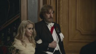 Maria Bakalova and Sacha Baron Cohen play daughter and father in 'Borat Subsequent Moviefilm'.