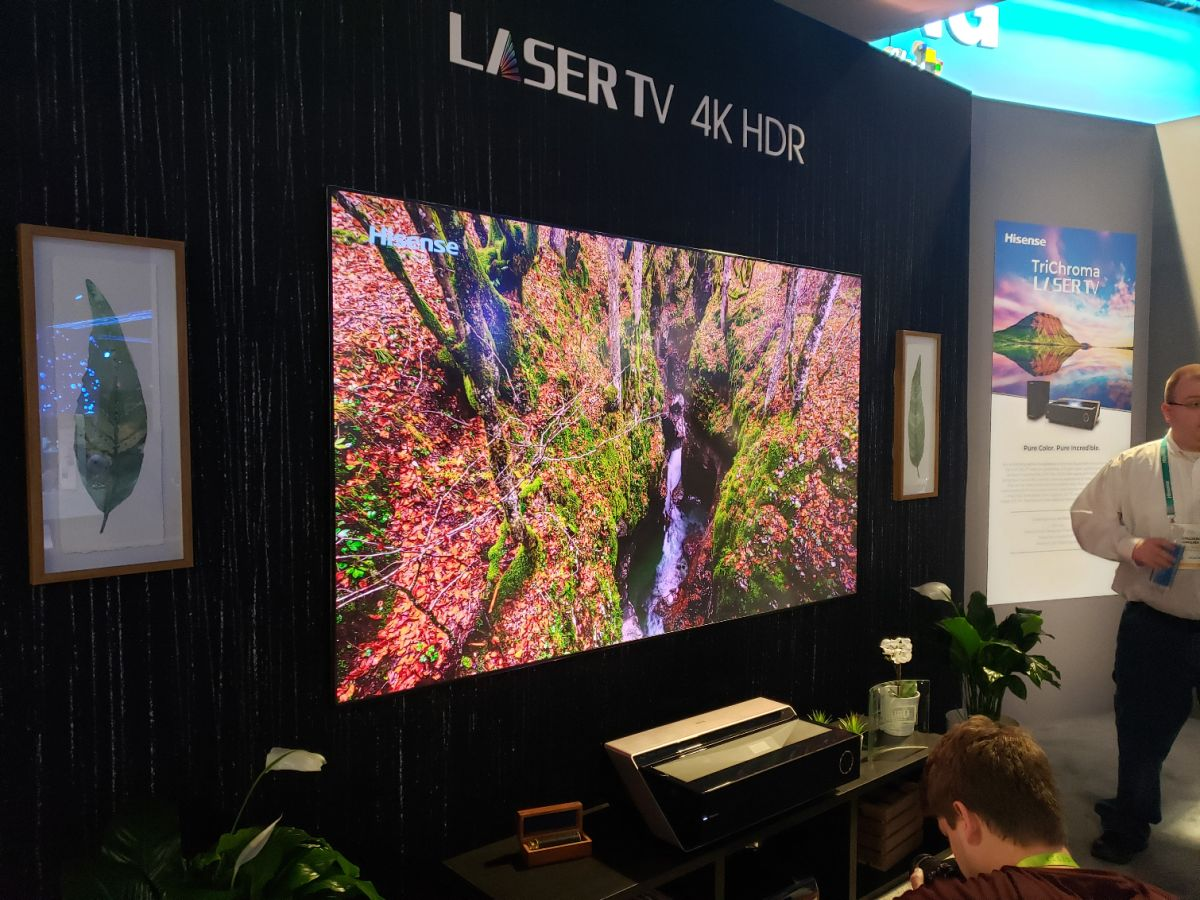 Hisense's 100-inch Laser TV Blew Me Away with All of the Colors