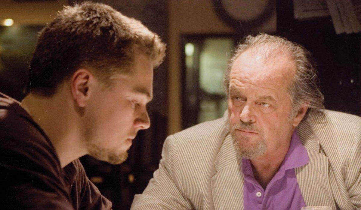 The Departed Jack Nicholson talks to Leonardo DiCaprio