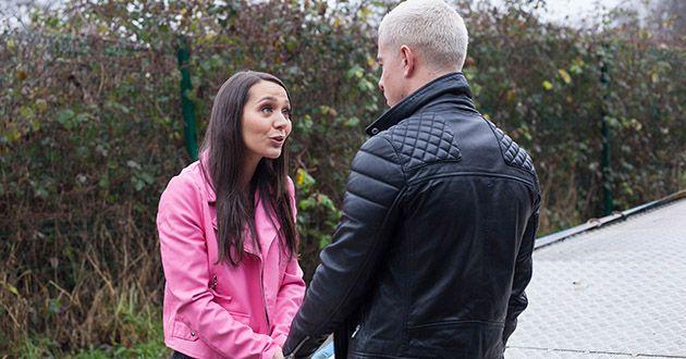 Cleo McQueen calls Joel Dexter for help in what he believes an emergency in Hollyoaks.