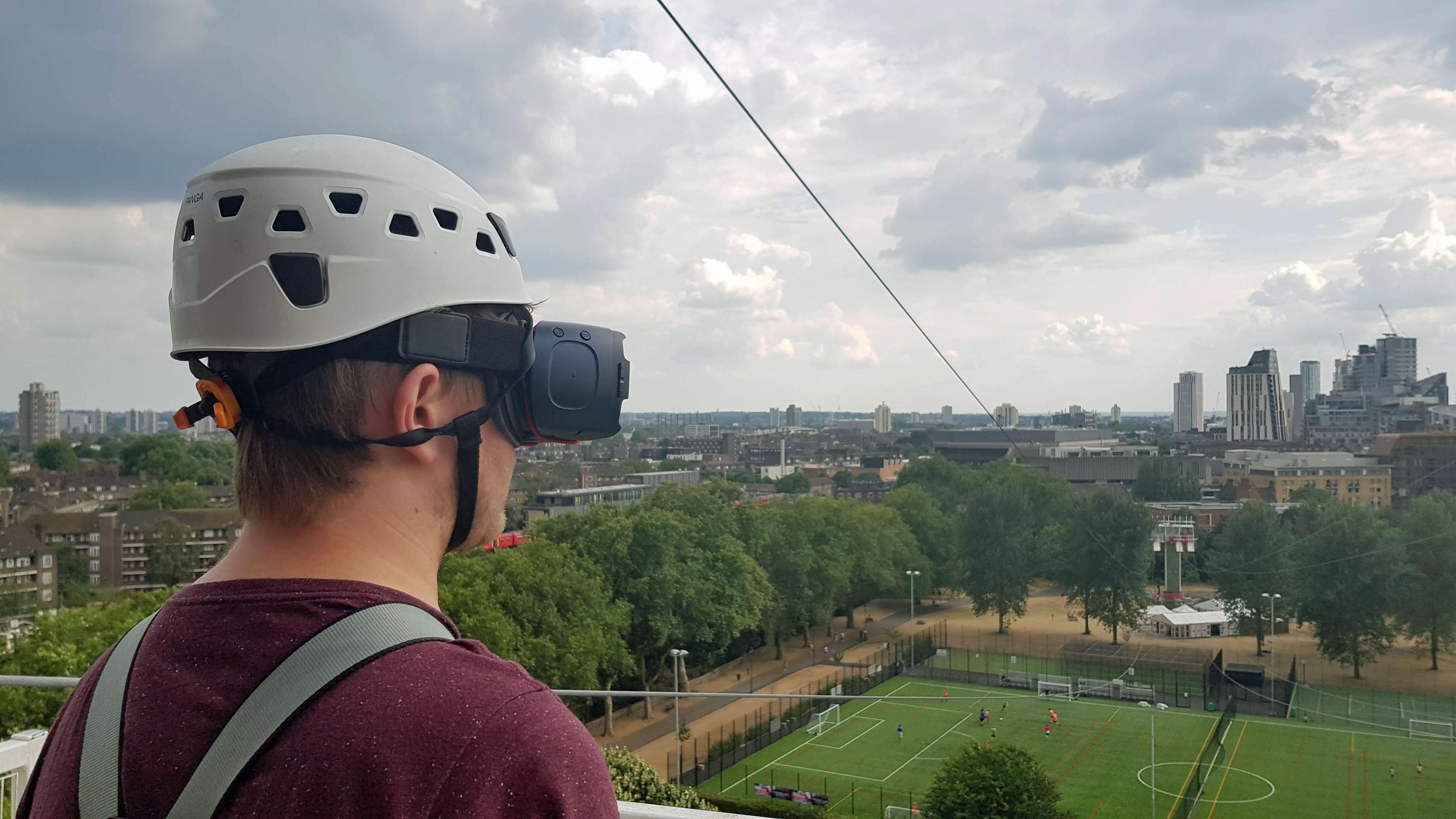 I rode half of the world\'s longest zipline in virtual reality ...