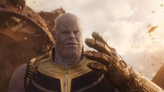Josh Brolin as Thanos with the Infinity Gauntlet in Avengers: Infinity War