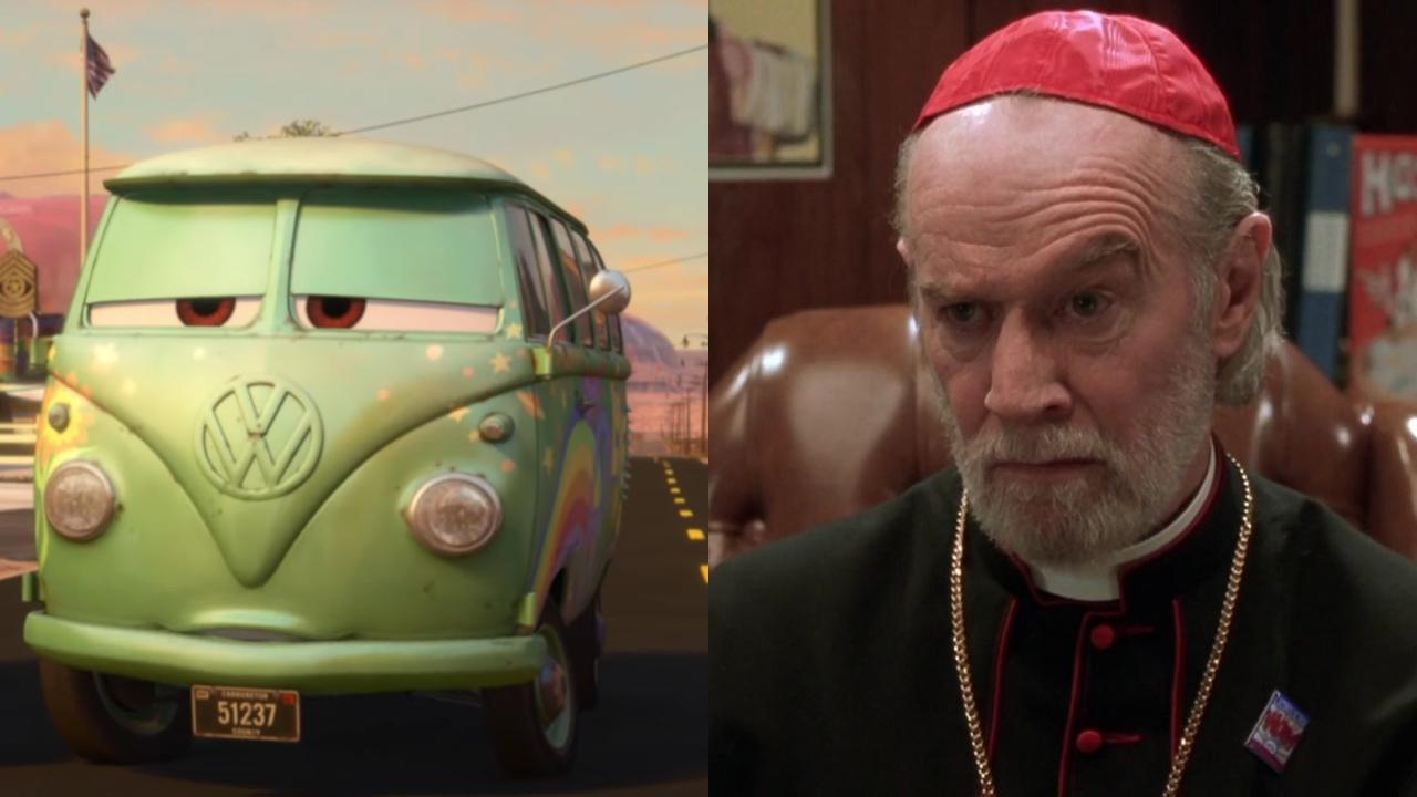 Fillmore in Cars; George Carlin in Dogma