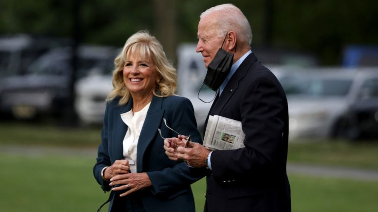President Joe Biden and First Lady Jill Biden walk on the ellipse to board Marine One on June 09, 2021 in Washington, DC. President Joe Biden and the First Lady are traveling to the United Kingdom for the G7 Summit and will later travel to Belgium and Switzerland, as part of an eight day trip through Europe.