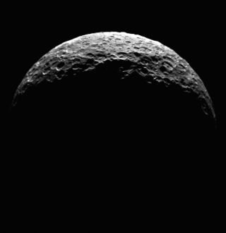 Ceres' North Pole, Seen by Dawn, April 2015