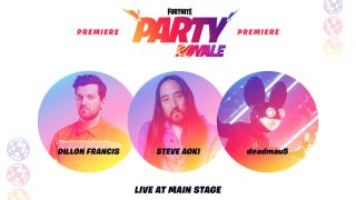 Fortnite Deadmau5, Steve Aoki, and Dillon Francis concert