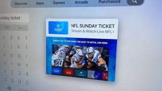 NFL Sunday Ticket on Apple TV