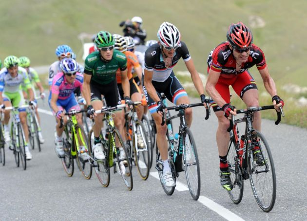 Cadel Evans on Galibier, Tour de France 2011, stage 19