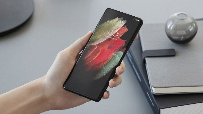 Samsung Galaxy phone with OLED screen