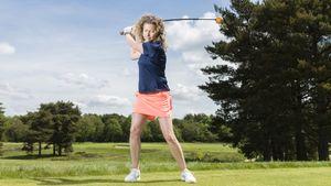 Orange whip golf trainer