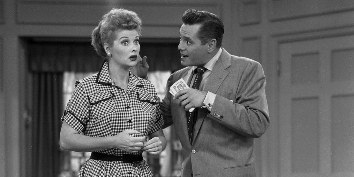 Lucy and Ricky in I Love Lucy.