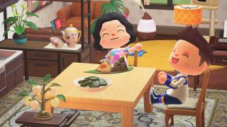 Animal Crossing New Horizons characters with Dragon Boat Festival items
