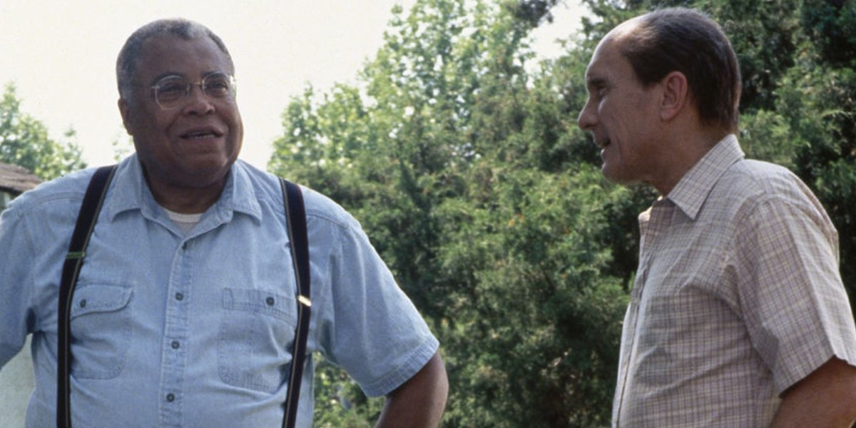 James Earl Jones and Robert Duvall in A Family Thing