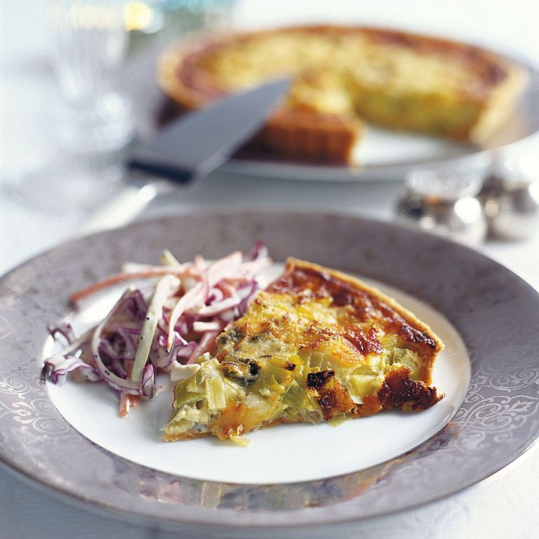 Leek and Dolcelatte Tart Recipe-tart recipes-recipe ideas-new recipes-woman and home