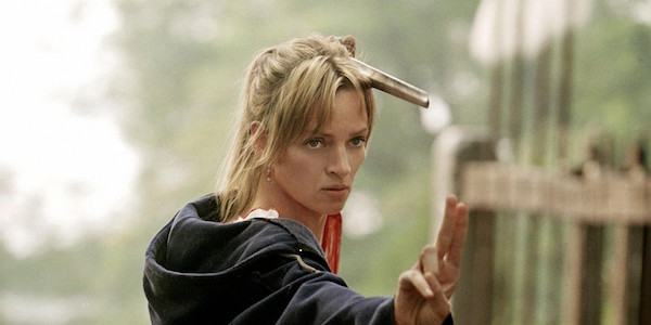 Uma Thurman training scene in Kill Bill