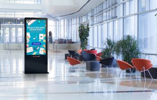 Peerless-AV Upgraded All-in-One Kiosk Powered by BrightSign